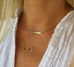 Gold bar necklace, Horizontal bar necklace,  24K Vermeil gold chain,Gold plated bar necklace, minimalist jewelry, Gift for her. Gold Bar Necklace, Minimalist Jewelry, Gold Chains, Gifts For Her, Ice, Elegant, Trending Outfits, Unique Jewelry, Handmade Gifts