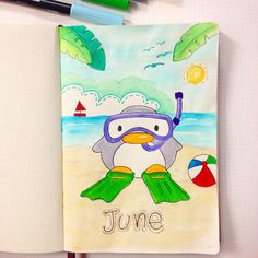 This little guy plus a bunch of other spreads from my #bulletjournal are up on the blog in my #June Set Up. Go and check it out. Link in bio