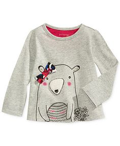 First Impressions Baby Girls' Bear Bow Top - Kids - Macy's
