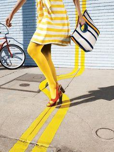 yellow + stripes. #yellow #melloyellow #yellowfashions