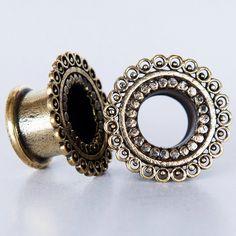 Brass Tunnel - Piercing Tunnel - Ear Tunnel - Brass Plugs - Brass Tunnels - Ear Plugs - Piercing Plugs - Ear Gauges by RONIBIZA on Etsy https://www.etsy.com/listing/216639768/brass-tunnel-piercing-tunnel-ear-tunnel