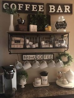 Adorable Latest Diy Coffee Station Ideas In Your Kitchen. diy kitchen decor Latest Diy Coffee Station Ideas In Your Kitchen Coffee Bars In Kitchen, Coffee Bar Home, Home Coffee Stations, Office Coffee Station, Coffee Station Kitchen, Wine And Coffee Bar, Beverage Stations, Tea Station, Coffee Bar Design