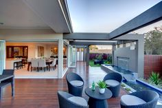 Alfresco area meets dining and living great for summer nights