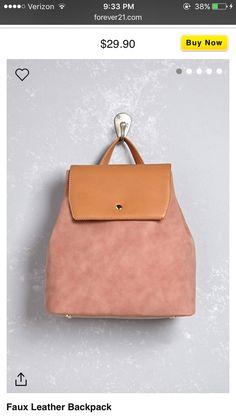 Faux Leather Backpack eef0586d4d39d