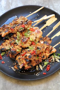 Asiatiske kyllingspyd - Mat På Bordet Easy Chicken Recipes, Asian Recipes, Healthy Recipes, I Love Food, Good Food, Pizza Snacks, Norwegian Food, Grilling Recipes, Food To Make