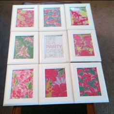 First decoration for my new apartment- Lilly Pulitzer prints