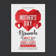 Modelo De Folheto 8 De Marco Mothers Day Brunch Mothers Day Memorial Day Celebrations