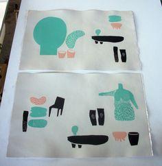 linóleo linocut prints