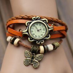 Trendy ladies leather watch-Jewellery-Swastique