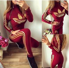 Right side zip in dark red and gold Gold Leaf Chill Outfits, Sporty Outfits, Swag Outfits, Nike Outfits, Dress Outfits, Summer Outfits, Fashion Outfits, Dresses, Winter Outfits