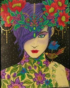 Coloured By Kerri Hickman Prismacolor Pencils Sommarnatt Hannakarlzon