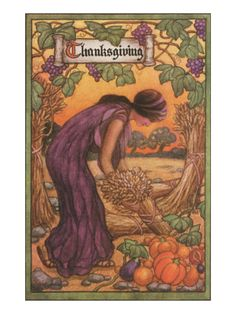 Persephone Harvesting Wheat and Grapes