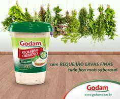 Com Requeijão Ervas Finas tudo fica mais saboroso! Acesse nosso site: www.godam.com.br