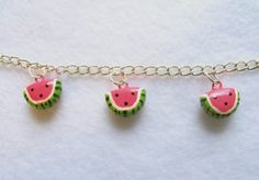 Fruity Watermelon Slice Charm  Handcrafted by MariposaMiniatures, $6.00