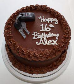 Car keys sweet 16 cake for boy