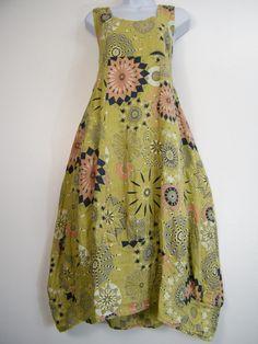 LAGENLOOK 100% LINEN ITALIAN SUMMER DRESS 2 FRONT POCKETS 13 COLOURS SIZE 12-16 | eBay
