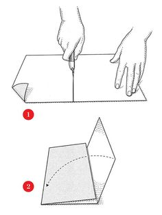 How to fold a sheet of sandpaper so that the abrasive side stays sharp and makes the sandpaper easier to hold.