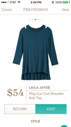 Love the color of the top and would love to try a top with cut out shoulders