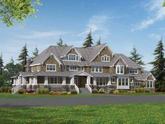 Craftsman House Plan with 6582 Square Feet and 4 Bedrooms(s) from Dream Home Source   House Plan Code DHSW52564