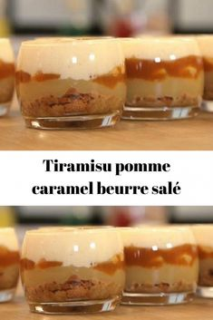 Tiramisu pomme caramel beurre salé Salted butter caramel apple tiramisu Verrines of caramelized apple tiramisu, a delicacy that is both creamy and airy, Ultra gourmet! Salted Butter, Apple Butter, Dessert Party, Lemon Desserts, Köstliche Desserts, Plated Desserts, Chocolate Cake Recipe Easy, Chocolate Recipes, Puddings