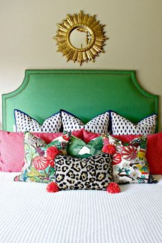 8 Stupendous Cool Tips: Decorative Pillows Crochet rustic decorative pillows faux fur.Decorative Pillows Couch Trays decorative pillows on bed king.Decorative Pillows For Teens Signs. Leopard Tapete, Gouts Et Couleurs, Estilo Interior, Decoration Inspiration, Style Inspiration, The Design Files, Guest Bedrooms, Home Bedroom, Bedroom Furniture
