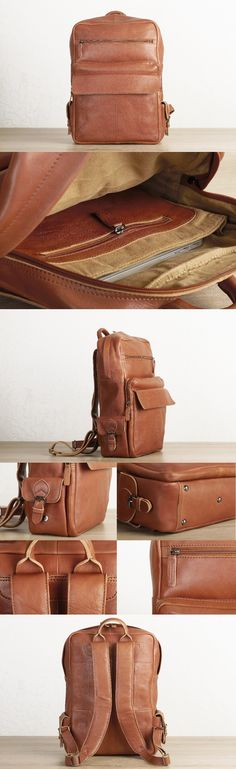 #brown #leather #laptop #backpack for #men by #TheLeatherExpert