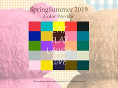 Spring Summer 2019trendforecasting is A TREND/COLORGuide that offer seasonal inspiration & key color direction for Women/Men's Fashion, Sport& Intimate Apparel