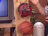 ball storage rack keeps sports equipment organized Ball Storage, Storage Rack, Diy Storage, Storage Ideas, Storage Solutions, Craft Closet Organization, Garden Organization, Organizing, Workshop Organization