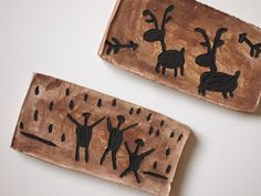 "Carve ""rock"" to make prehistoric rock art!"