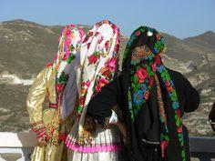 Greek women in Karpathos dreesed for a local wedding