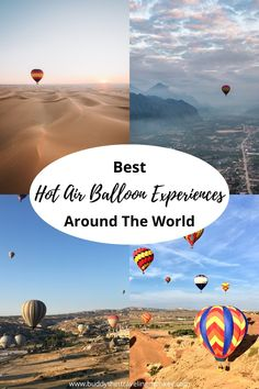 These are the best hot air balloon experiences around the world! The views you'll see from these recommended tours will leave you breathless! Places To Travel, Travel Destinations, Amazing Destinations, Travel Around The World, Around The Worlds, Air Balloon Festival, Air Balloon Rides, Valley Of The Kings, Solo Travel