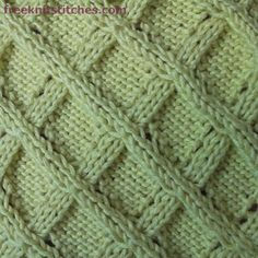 Free knitted trim patterns Lattice  Lots of different stitches here  :)