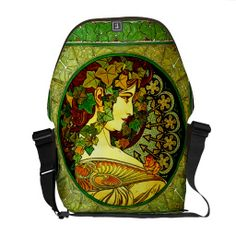 Art Nouveau Stained Glass ~ #Vintage Alphonse Mucha Courier Bags