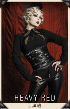Touch of Scorn Waist Cincher   This whole outfit makes my inner Goth very happy.  HOT!