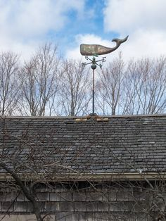 Whale weather vane....my mom has this on top of her garage