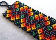 Image result for red indian beadwork