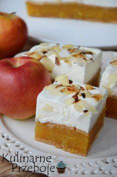 Szarlotka, ciasto bez pieczenia na herbatnikach No Bake Desserts, Cheesecake, Deserts, Food And Drink, Sweets, Apple, Baking, Fruit, Cakes