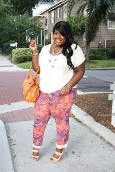 Floral Pantaloons   :::Musings of a Curvy Lady::: #plussizefashion #curvygirl #psblogger #ootd #womensfashion  #floralprint