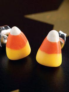 Halloween Craft: Candy Corn Earrings