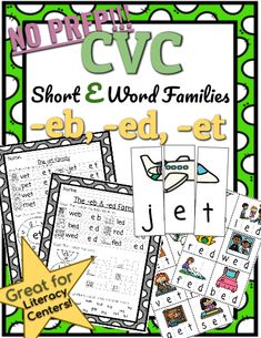 A pair of kindergarten teachers who fell in love over their mutual passion for teaching, travel, and binge-watching TV. Short E Words, Short O, Phonics Lessons, Family Set, Cvc Words, Kindergarten Teachers, Word Families, Word Work, First Grade