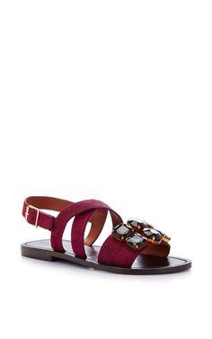 4eb272d2ac2e10 Embellished Calf-Hair Sandals by Marni - Moda Operandi Marni Sandals