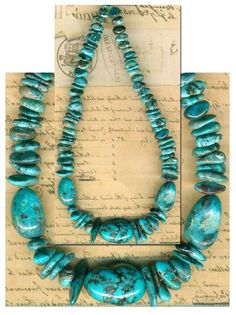 """Mexican NACOZARI TURQUOISE Beads Blue Natural Color Genuine 6-18mm 10"""" Str."""