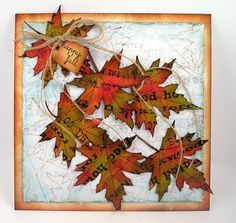 I love the fall leaves on this card.  The link did not take me directly to this project and after scrolling through several pages, I gave up and just pinned this for inspiration.  The blog does have a lot of nice card and tag ideas in addition to this one.