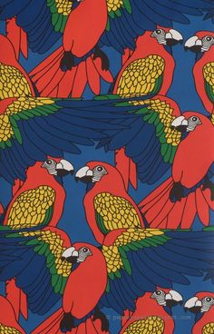 Papier-peint perroquet
