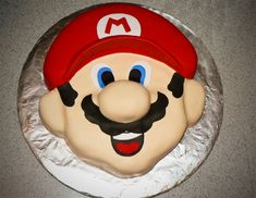 mario cake carved fondant birthday