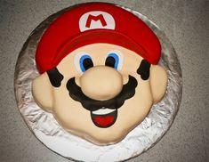 mario cake carved fondant birthday