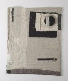 gizella warburton  paper & cloth i, 'veil'  textile, stitch, mixed media    (63 x 75 cm)