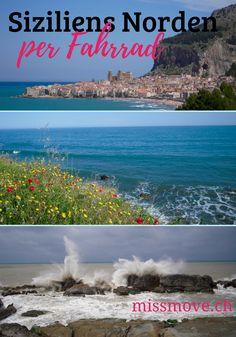 Sizilien per Fahrrad - im Norden der grössten Mittelmeerinsel Italiens fährst du zwischen Meer und Bergen. Und dann ist da noch Cefalù...! Begleite Miss Move auf ihren Radreise in Italien! #Italien #Radtouren #Sizilien #Fahrrad