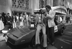 NBA Players Style History: Style: GQ  Magic Johnson and Pat Riley 1982  The Trans-Am. The gator-skin boots poking out like mice from those giant flared trousers. And of course, the hair gel. It's a wonder civilization made it through the '80s.