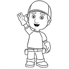Handy Manny coloring picture | Thing\'s to do w/ the boys! | Pinterest